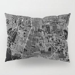 Santiago Black Map Pillow Sham