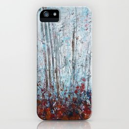Autumn Smoke - Misty Autumn Forest Scene iPhone Case