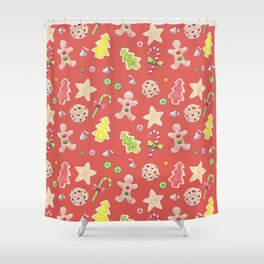Holiday Treats Shower Curtain