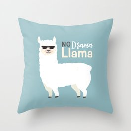 NO DRAMA LLAMA Throw Pillow