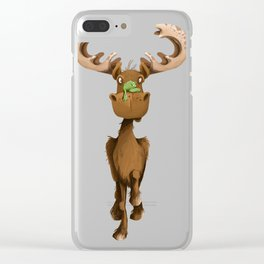 Moose Named Moe Clear iPhone Case
