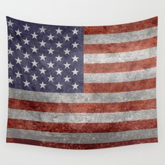 The United States of America Flag, Authentic 10:19 G-spec Desaturated version Wall Tapestry