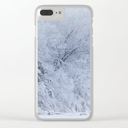 First Snow Fall Fresh Snow on Trees Nature Photography ~ Winter Hush Clear iPhone Case