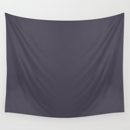 Immortal Dark Purple Gray Solid Color Pairs To Sherwin Williams Quixotic Plum SW 6265 Wall Tapestry