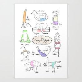 Los Yogis  Art Print