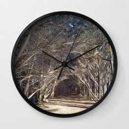 The Woods Hold Both the Light and the Darkness Wall Clock