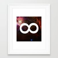 infinite Framed Art Prints featuring Infinite by Sney1