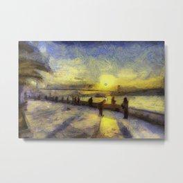 Bosphorus Sunset Van Gogh Metal Print
