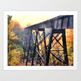Upper Peninsula Train Trestle Art Print