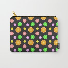 Orange, lemon, lime and grapefruit summer party pattern Carry-All Pouch