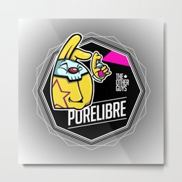 PureLibre-Badge Metal Print