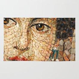 Detail of Woman Portrait. Mosaic art Rug