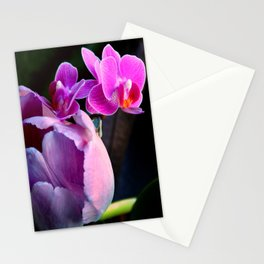 Purple Tulip With Baby Moths Stationery Cards
