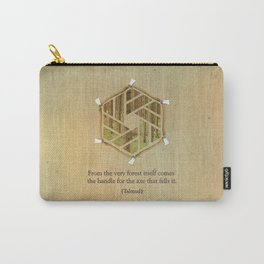 Forest & Axe — Illustrated Quote Carry-All Pouch
