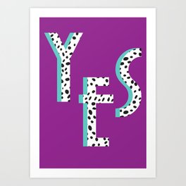 YES Poster | Purple Dalmatian Pattern Art Print