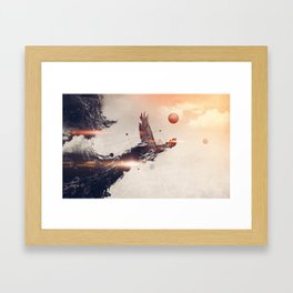 Break away Framed Art Print