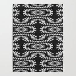 Monochrome centipede arabesque Poster
