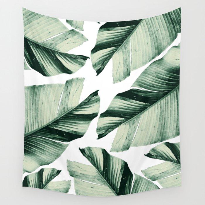 Tropical Banana Leaves Vibes #1 #foliage #decor #art #society6 Wall Tapestry