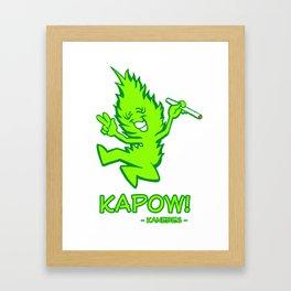 Kapow! - Kanebes Framed Art Print