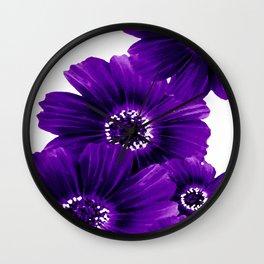 Floral Violet Wall Clock
