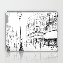 Sketch of a Street in Paris Laptop & iPad Skin