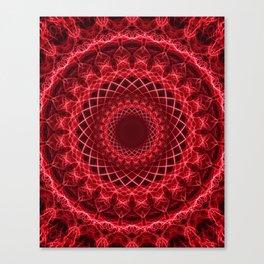 Rich mandala in red tones Canvas Print