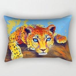 Tree Leopard Rectangular Pillow