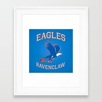 ravenclaw Framed Art Prints featuring Eagles Ravenclaw by Fresco Umbiatore