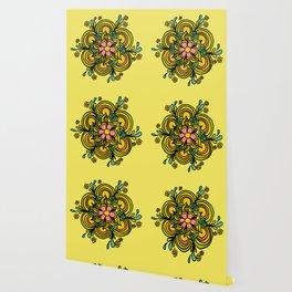 Flower Power Mandala Positive Vibes Flow Freely Wallpaper