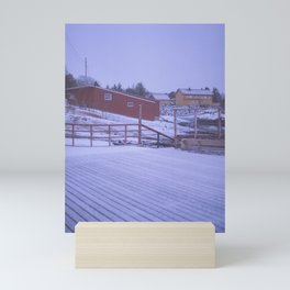 Norway in the cold Mini Art Print