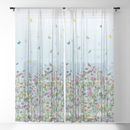 Matthew Williamson Deya Meadow Sheer Curtain