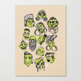 Tribe City Canvas Print