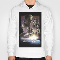 battlestar Hoodies featuring BATTLESTAR GALACTICA POSTER by tanman1