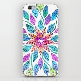 Leaf Mandala - Bright iPhone Skin