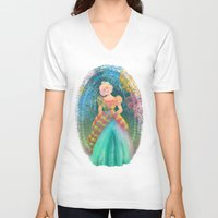 teacher V-neck T-shirts featuring Juliana by Ind Alonso