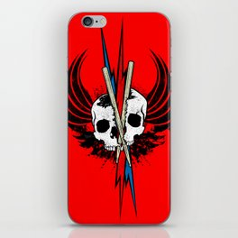 DRUM OR DIE! RED iPhone Skin