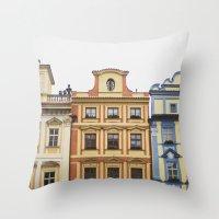 prague Throw Pillows featuring Prague   by Kameron Elisabeth