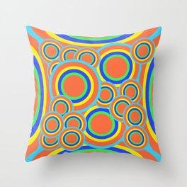 Mod - Colorful Circles Throw Pillow