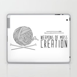 Weapons Of Mass Creation - Knitting Laptop & iPad Skin