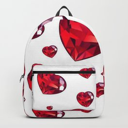 MODERN ART RAINING RUBY RED VALENTINES HEARTS Backpack