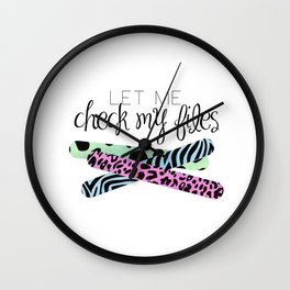 Let Me Check My Files Wall Clock