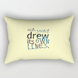 Our Story Drew Its Own Lines Rectangular Pillow