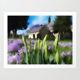 Church with artistic blur Art Print