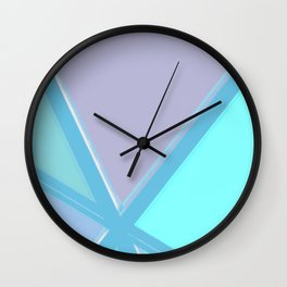 Coloured Glass Abstract Wall Clock