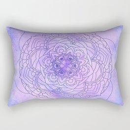 Waterolor Mandala FLower Rectangular Pillow