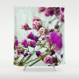 pink florets detail Shower Curtain