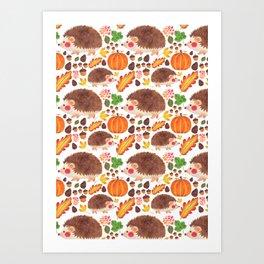 Autumn Hedgehog Art Print