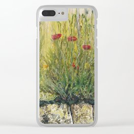 Brushstrokes Clear iPhone Case