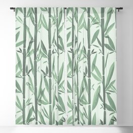 Bamboo Forest Watercolor Blackout Curtain