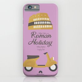Roman Holiday, Audrey Hepburn,movie poster, Gregory Peck, William Wyler, romantic hollywood film iPhone Case